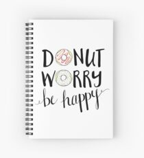Cuaderno de espiral Donut Worry Be Happy