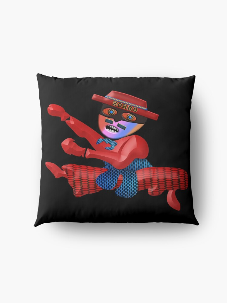 Alternate view of THE LEGEND OF ZORRO IN HIS NEW ADVENTURES FOR KIDS - ZORRO MARTIAL ARTS - ZORRO NINJA - HALLOWEEN PARTY - CHRISTMAS PARTY - GREAT FUN GIFT FOR PARTIES AND COSTUMES2. Floor Pillow