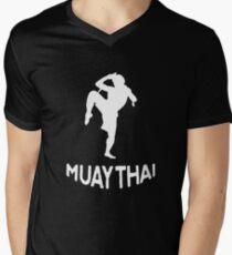 Muay Thai Funny Men's V-Neck T-Shirt