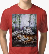 Tigers! Mother and Child Tri-blend T-Shirt