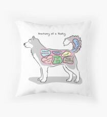 Anatomy of a Husky Throw Pillow