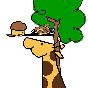 Giraffe Likes Muffins by JLGMedia