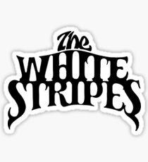 White Stripes Sticker