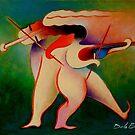 Violinistas by Jose De la Barra