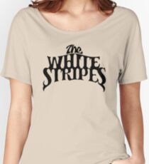 White Stripes Women's Relaxed Fit T-Shirt