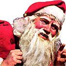 Vintage Smoking Santa Claus by hilda74