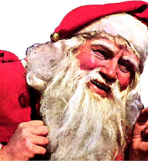 Weinlese, die Santa Claus raucht von hilda74