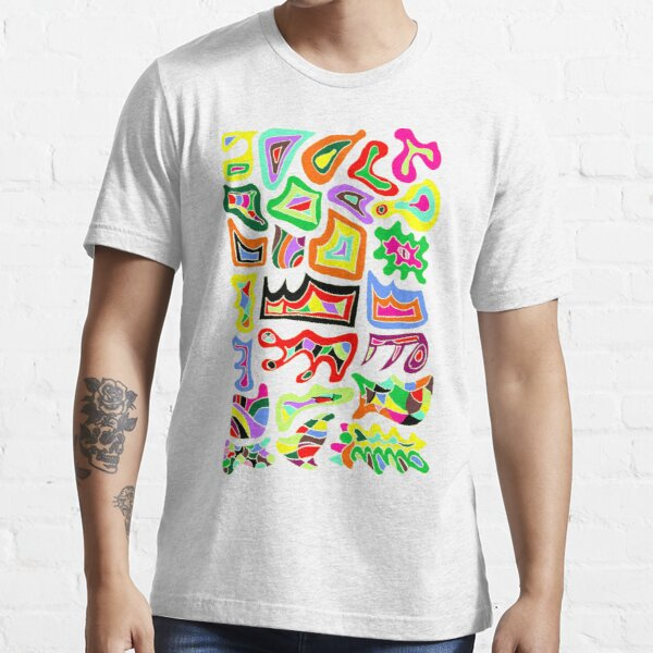 FELLING GROOVY   THE COLOUR RIOT   HAND DRAWN PSYCHEDELIC WHITE BACKGROUND Essential T-Shirt