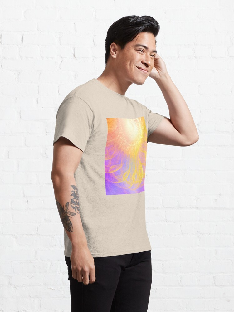 Alternate view of Sunny #Fractal Art Classic T-Shirt