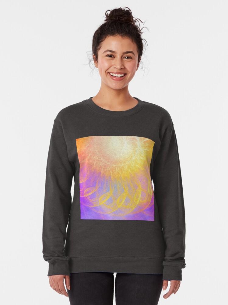 Alternate view of Sunny #Fractal Art Pullover Sweatshirt