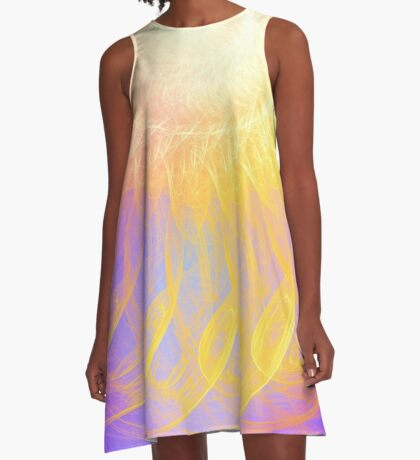 Sunny #Fractal Art A-Line Dress