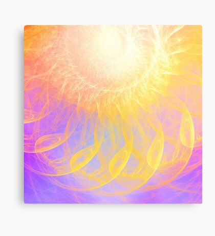 Sunny #Fractal Art Metal Print