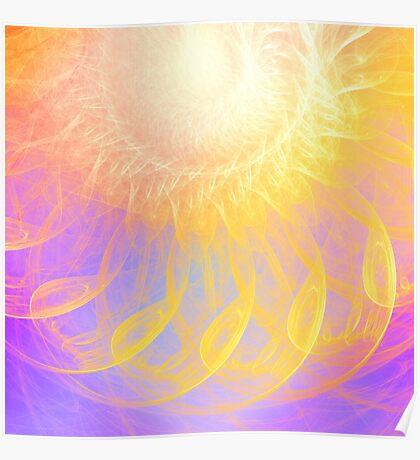 Sunny #Fractal Art Poster