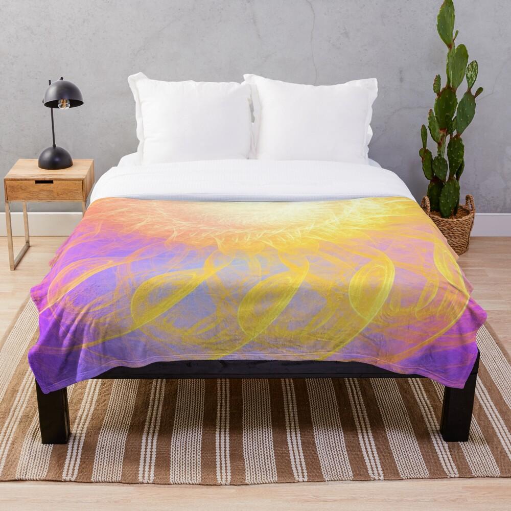 Sunny #Fractal Art Throw Blanket