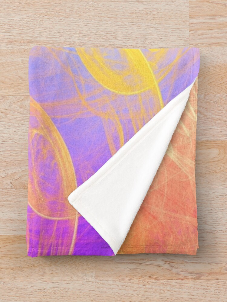 Alternate view of Sunny #Fractal Art Throw Blanket