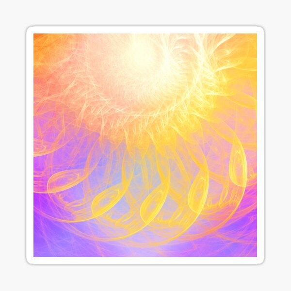 Sunny #Fractal Art Sticker