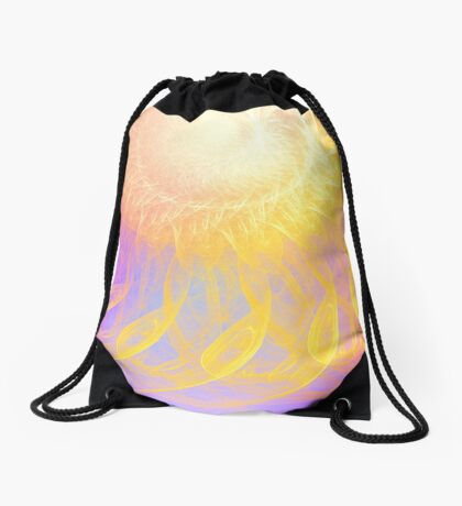 Sunny #Fractal Art Drawstring Bag