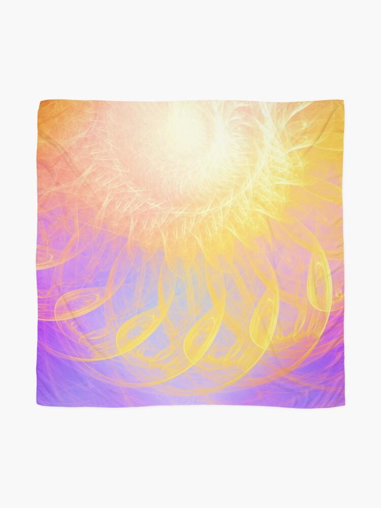 Alternate view of Sunny #Fractal Art Scarf