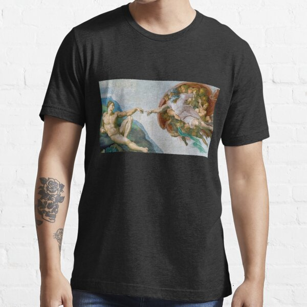 The Creation of Adam by Michelangelo Essential T-Shirt