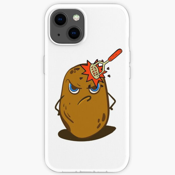 Angry Cute Spud Potato  iPhone Soft Case