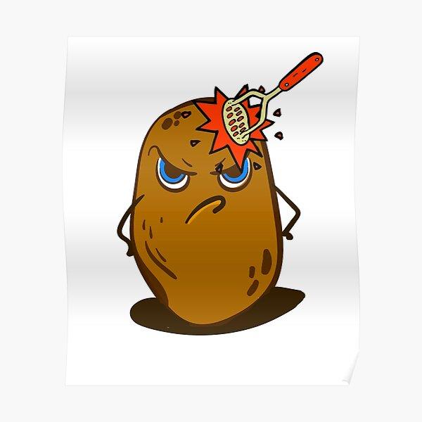 Angry Cute Spud Potato  Poster