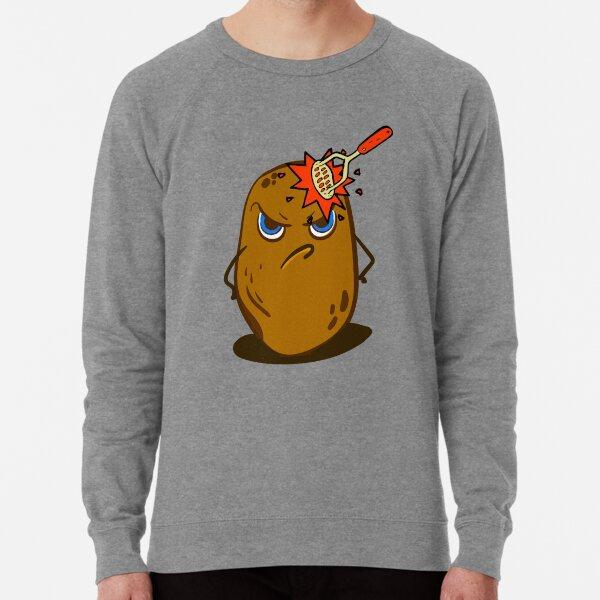 Angry Cute Spud Potato  Lightweight Sweatshirt