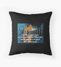 A Worship Leaders Heart Throw Pillow