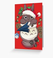 Totoro's Christmas Greeting Card