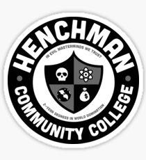 Henchman Community College Sticker