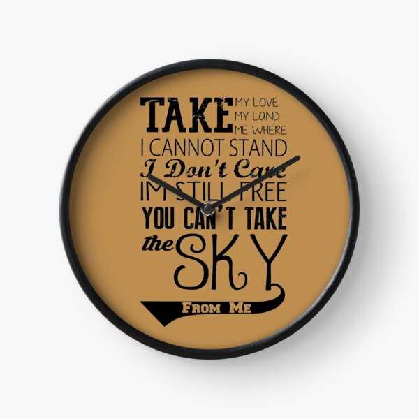 Firefly Theme song quote Clock