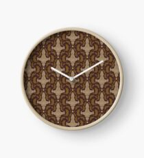Leaf on the Wind Damask Clock