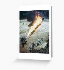 Flamethrower Greeting Card