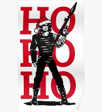 HO HO HO (now I have a machine gun) Poster