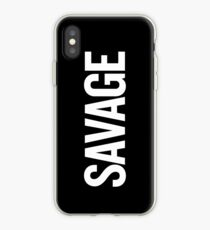 Savage (White) iPhone Case