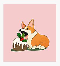 Christmas Corgi Photographic Print