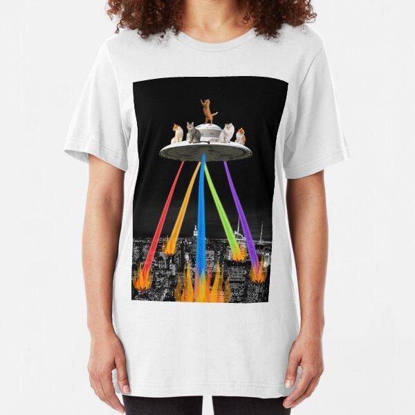 CAT INVADERS Slim Fit T-Shirt
