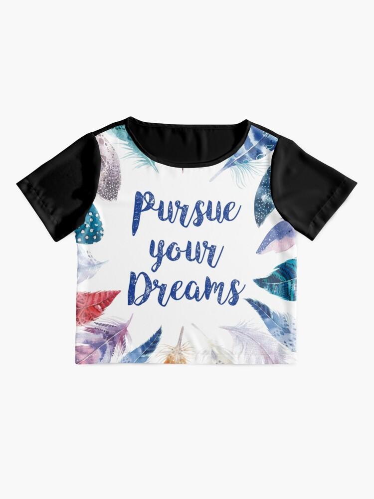 Vista alternativa de Blusa Feathers, Pursue your dreams