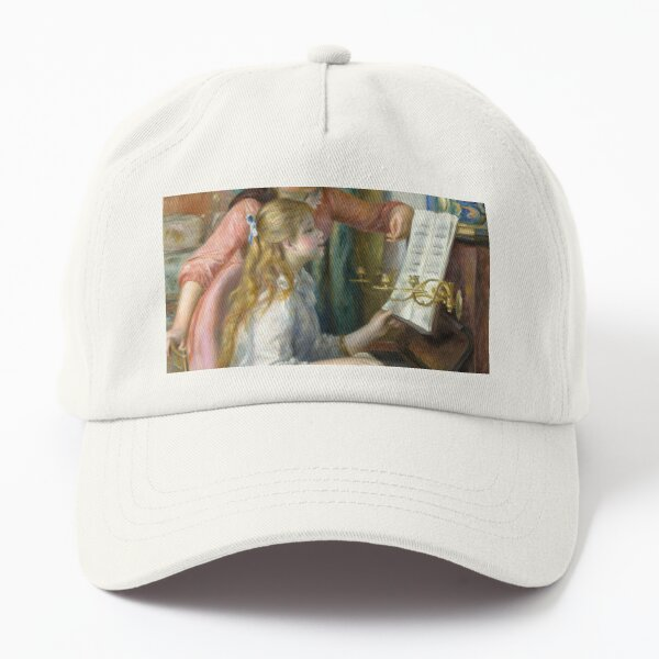 Two Young Girls at the Piano painting Dad Hat
