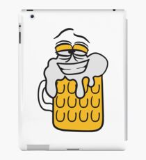 cool funny face alive comic cartoon thirst logo beer pitcher drinking drinking party celebrate drinking alcohol symbol cool shirt oktoberfest iPad Case/Skin