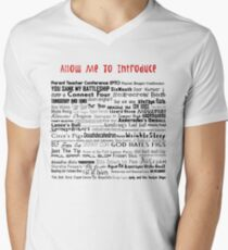 Parks and Rec Andy's Band Names- Mouserat and more! Mens V-Neck T-Shirt