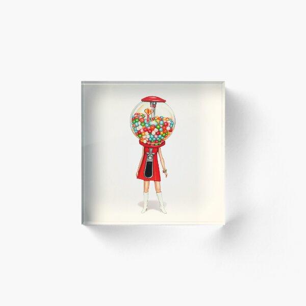 Gumball Machine Girl Acrylic Block