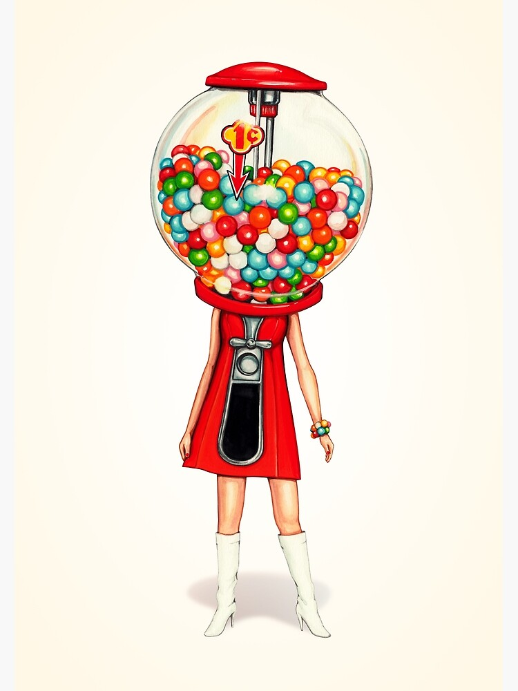 Gumball Machine Girl by KellyGilleran