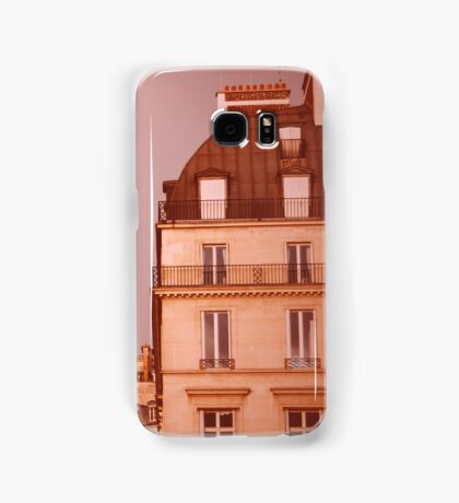 Paris Street View with Rainbow in the Sky After Rain Samsung Galaxy Case/Skin