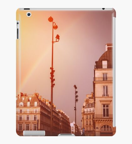 Paris Street View with Rainbow in the Sky After Rain iPad Case/Skin