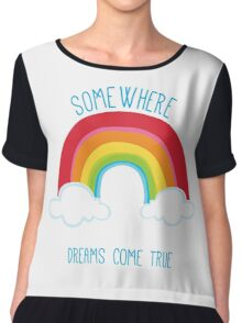 SOMEWHERE OVER THE RAINBOW art bright colourful Women's Chiffon Top