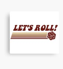 Let's Roll Roleplaying Game Dice Canvas Print
