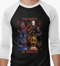 FNAF 2 animatronics Men's Baseball ¾ T-Shirt
