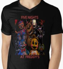 FNAF 2 animatronics Men's V-Neck T-Shirt