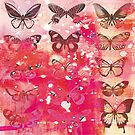 butterfly and vintage text collage by Carolynne