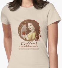 Coffee Propaganda Womens Fitted T-Shirt